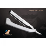 Plastic, Steel Cut Throat Razor Long Blade