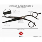 KAMISORI Gold Titanium Edition Black Diamond scissor in 6""